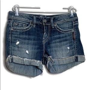Silver Jeans TONI Shorts Destroyed Distressed